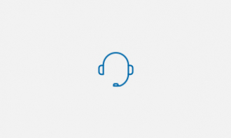 Technical Helpdesk Icon of blue headset