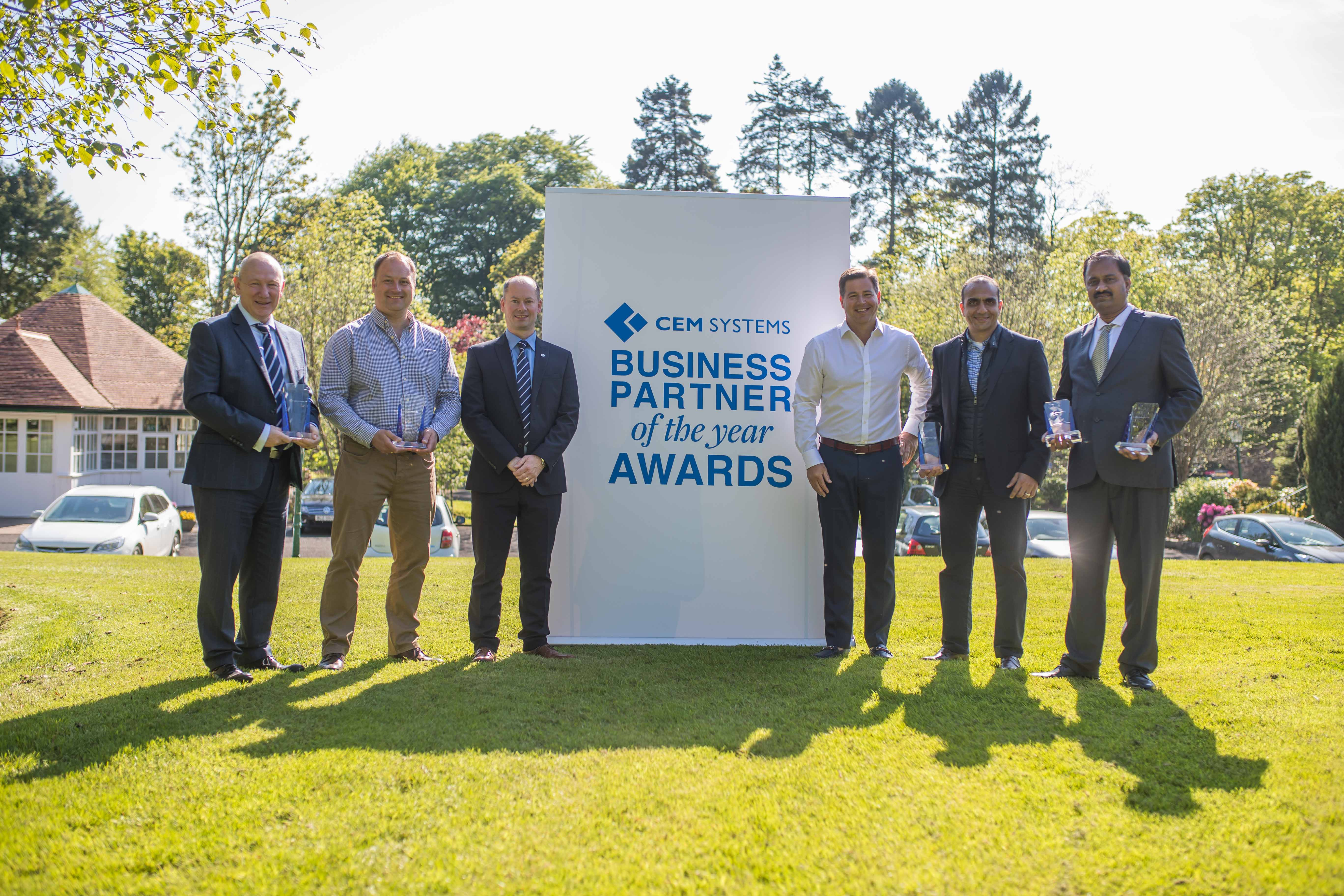 CEM Systems EMEA Business Partners of the Year award winners 2018