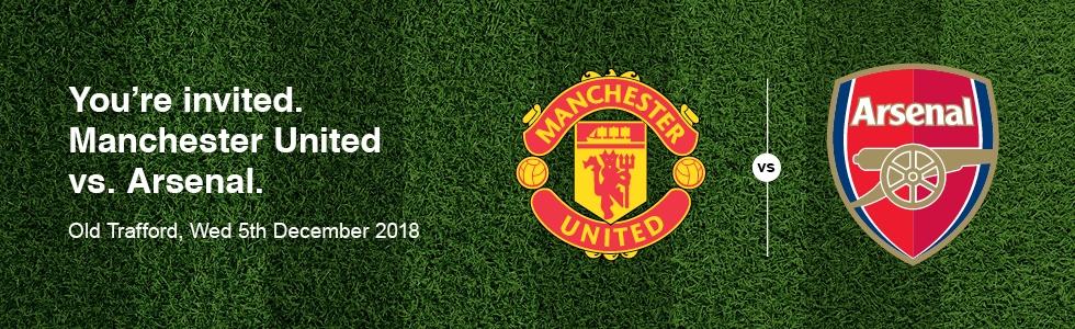 Manchester United vs. Arsenal banner